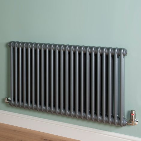 Old Style Mid Grey 2 Column Radiator 600mm high x 1059mm wide