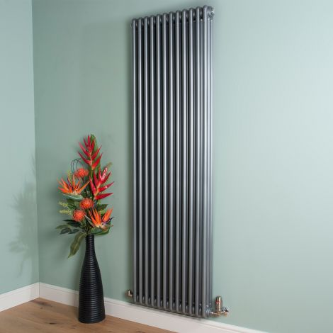 Old Style 10000 BTU Mid Grey 3 Column Radiator 1800mm high x 564mm wide,Thumbnail Image,Thumbnail Image,Thumbnail Image,Thumbnail Image,Thumbnail Image,Thumbnail Image