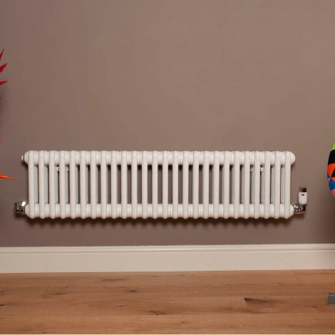 Old Style Low Level Gloss White 3 Column Radiator 300mm high x 1194mm wide,Small Image,Thumbnail Image,Small Image,Thumbnail Image,Thumbnail Image,Small Image