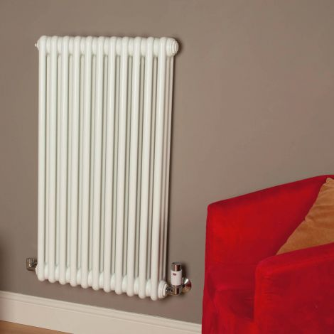 Old Style Gloss White 3 Column Radiator 900mm high x 519mm wide