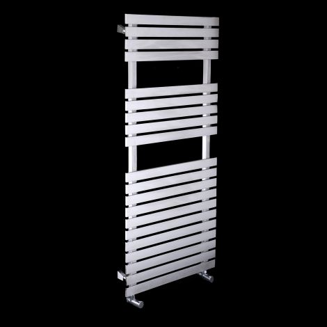 Oslo Brushed Stainless Steel Heated Towel Rail 1200mm high x 500mm wide