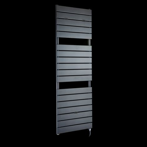Lazzarini Palermo Anthracite Tall Designer Electric Towel Rail 1500mm high x 500mm wide