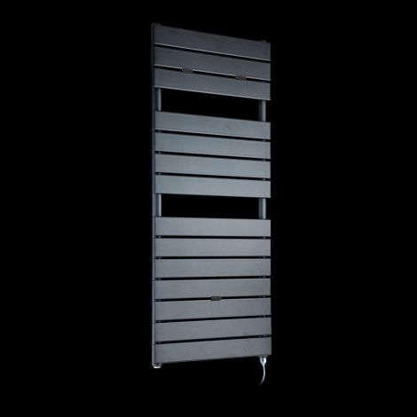 Lazzarini Palermo Anthracite Designer Electric Towel Rail 1200mm high x 500mm wide