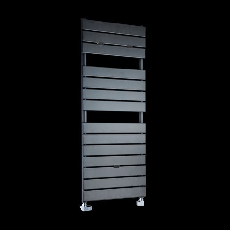 Lazzarini Palermo Anthracite Designer Heated Towel Rail 1200mm high x 500mm wide
