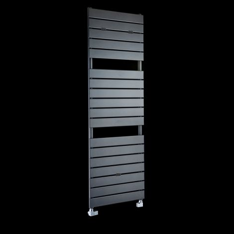 Lazzarini Palermo Tall Anthracite Designer Heated Towel Rail 1500mm high x 500mm wide