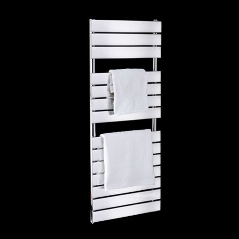 Lazzarini Palermo Chrome Designer Thermostatic Electric Towel Rail 1200mm high x 500mm wide