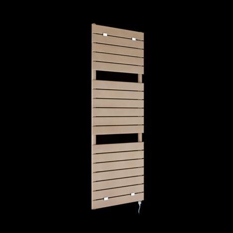Lazzarini Palermo Sand Brown Tall Designer Electric Towel Rail 1500mm high x 500mm wide