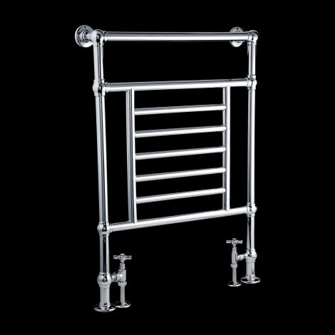 EX-DISPLAY Salisbury Chrome Period Heated Towel Radiator - 952mm high x 685mm wide