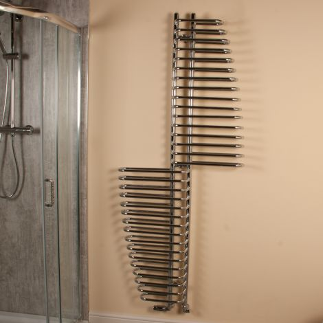 Santorini Large High Output Looping Style Designer Heated Towel Rail - 1810mm high x 770mm wide