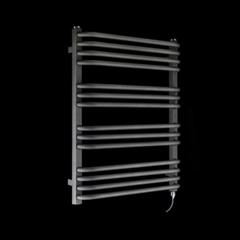 Terma Alex Black Pepper Electric Towel Rail 760mm high x 600mm wide