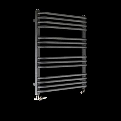 Terma Alex Black Pepper Heated Towel Rail 760mm high x 600mm wide