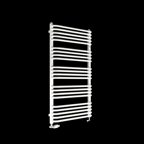 Terma Alex White Heated Towel Rail 1140mm high x 600mm wide
