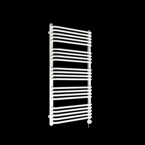 Terma Alex White Thermostatic Electric Towel Rail 1140mm high x 600mm wide