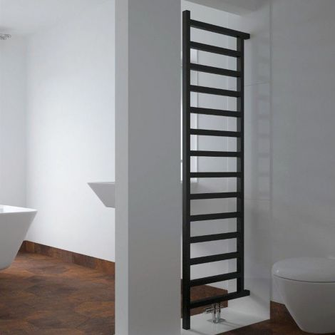 EX-DISPLAY Terma Simple Black DW Room Divider Heated Towel Rail - 1755mm high x 500mm wide