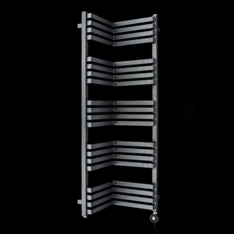Terma Incorner Black Inside Corner Thermostatic Electric Towel Rail - 1275mm high x 350mm wide (each side)