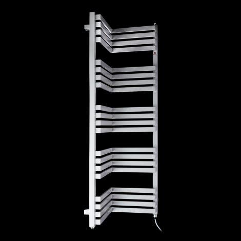 Terma Incorner Light Grey Inside Corner Electric Towel Rail - 1275mm high x 350mm wide (each side)