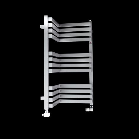 Terma Incorner Light Grey Inside Corner Short Heated Towel Rail - 735mm high x 350mm wide (each side)