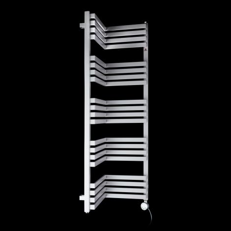 Terma Incorner Light Grey Inside Corner Thermostatic Electric Towel Rail - 1275mm high x 350mm wide (each side)