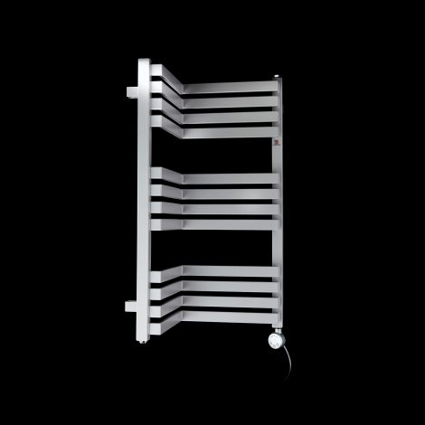Terma Incorner Light Grey Inside Corner Short Thermostatic Electric Towel Rail - 735mm high x 350mm wide (each side)