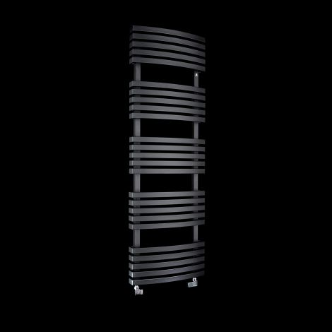 Terma Kioto Black Heated Towel Rail 1500mm high x 480mm wide