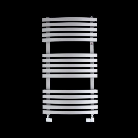 Terma Kioto Light Grey Heated Towel Rail 870mm high x 480mm wide