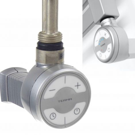 Terma MOA Silver Grey Thermostatic Element for Radiator or Towel rail - 600 watt