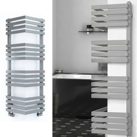 EX-DISPLAY Terma Outcorner Light Grey Outside Corner Heated Towel Rail - 1275mm high x 300mm wide (each side)