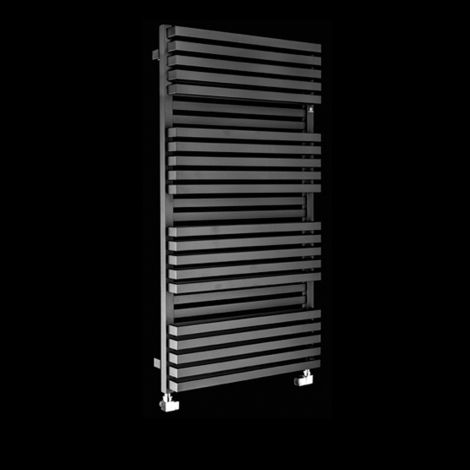 Terma Quadrus Bold Black High Output Double Heated Towel Rail 1185mm high x 600mm wide