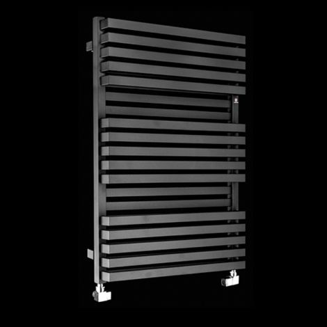 Terma Quadrus Bold Black High Output Double Heated Towel Rail 870mm high x 600mm wide