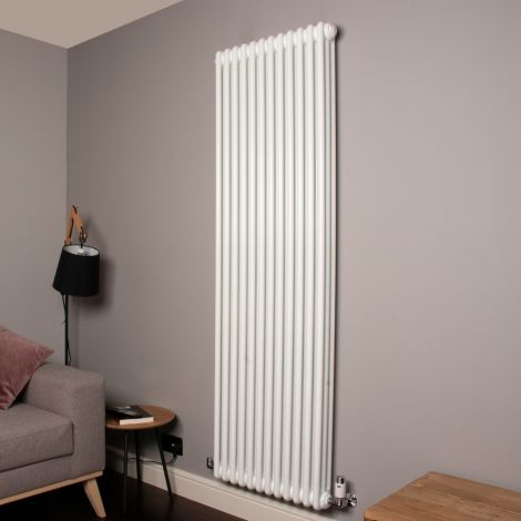 Old Style 10000 BTU Gloss White 3 Column Radiator 1800mm high x 564mm wide,Thumbnail Image,,,,