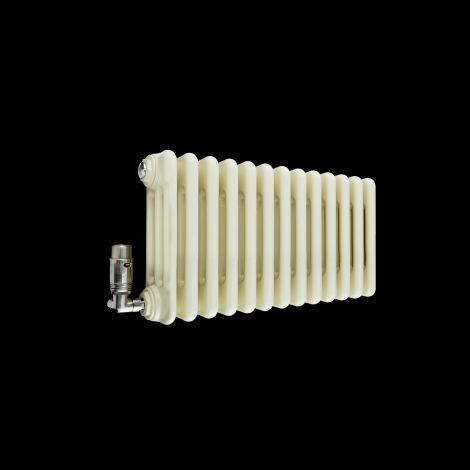 Old Style Gloss Cream 3 Column Radiator 300mm high x 609mm wide