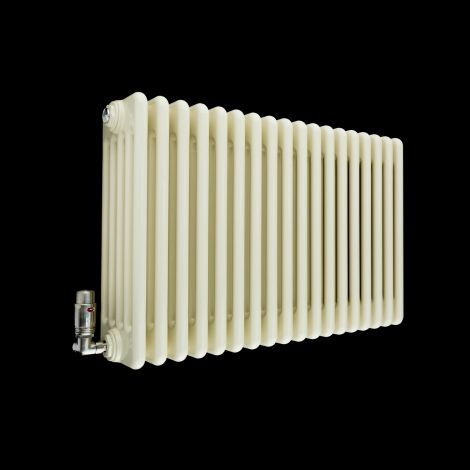 Old Style Gloss Cream 5 Column Radiator 500mm high x 834mm wide
