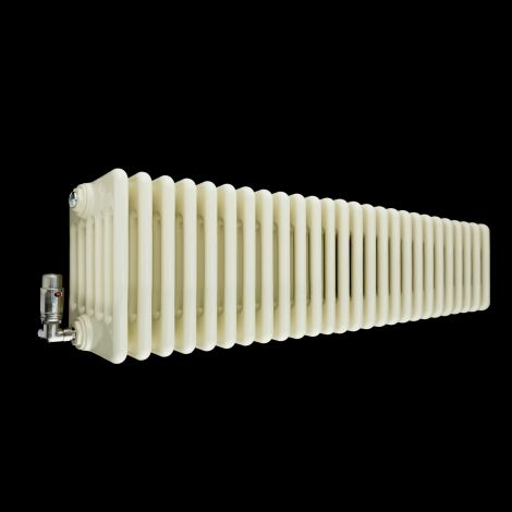 Old Style Gloss Cream 6 Column Radiator 300mm high x 1194mm wide