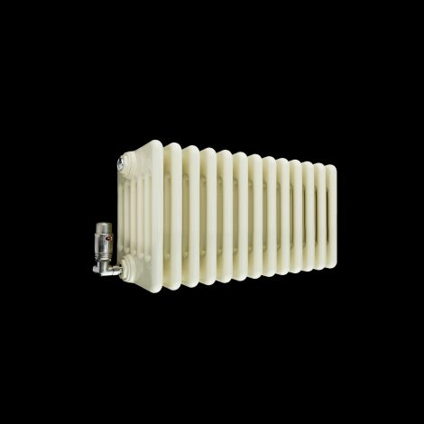 Old Style Gloss Cream 6 Column Radiator 300mm high x 609mm wide
