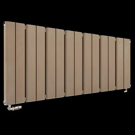 Torpedo Slimline Long Sand Brown Radiator 600mm high x 1395mm wide