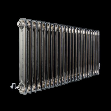 Vasco Vintage 50 Clear Lacquered 2 Column Radiator 600mm high x 1228mm wide
