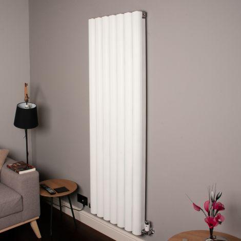 Venn White Vertical Tall High Output Designer Radiator - 1750mm high x 560mm wide