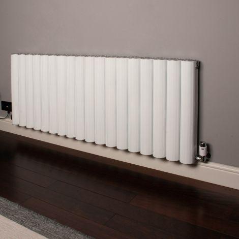 Venn White Horizontal High Output Designer Radiator - 600mm high x 1440mm wide