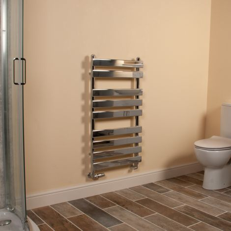 Vulcan Chrome Designer Heated Towel Rail 950mm high x 500mm wide
