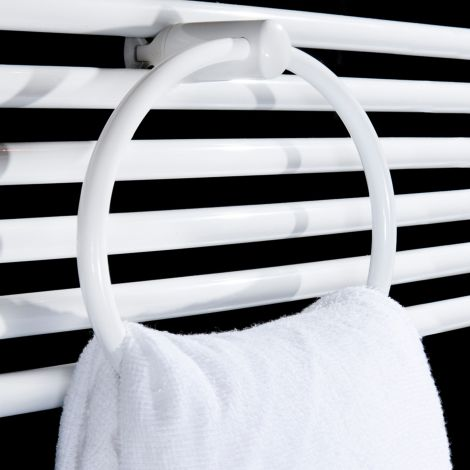White towel ring accessory