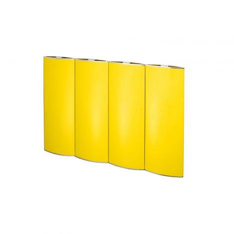 EX-DISPLAY Bisque Lissett Yellow Horizontal Designer Radiator - 590mm high x 804mm wide