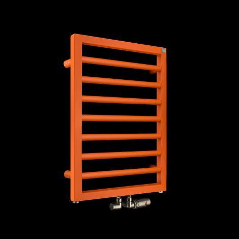 EX-DISPLAY Zehnder Subway Orange Designer Heated Towel Rail - 613mm high x 450mm wide