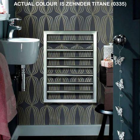 EX-DISPLAY Zehnder Subway Titane Designer Heated Towel Rail - 973mm high x 600mm wide