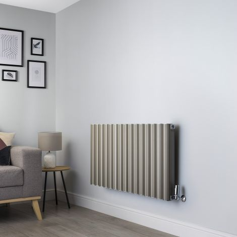 Venn Champagne Gold Horizontal Designer Radiator - 600mm high x 1200mm wide