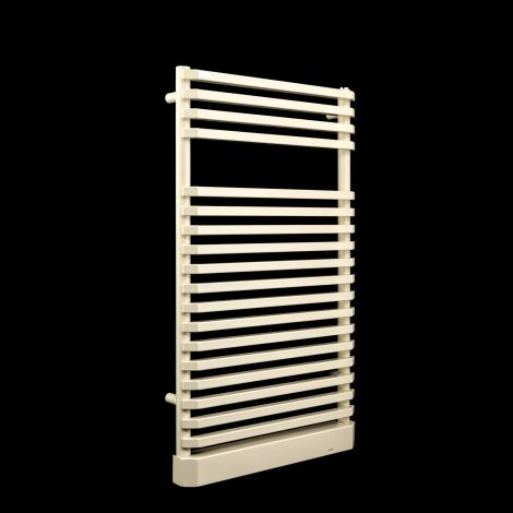 EX-DISPLAY Irsap Cream Electric Towel Rail 870mm high x 500mm wide