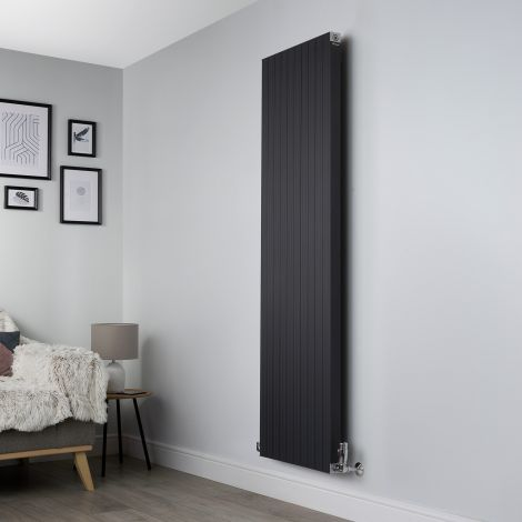 Motif Anthracite Vertical High Output Designer Radiator - 1750mm high x 500mm wide