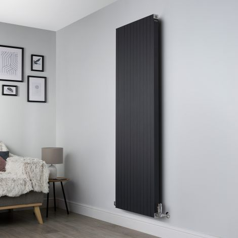 Motif Anthracite Vertical High Output Designer Radiator - 1750mm high x 600mm wide
