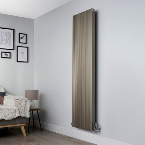 Motif Champagne Gold Vertical High Output Designer Radiator - 1750mm high x 500mm wide