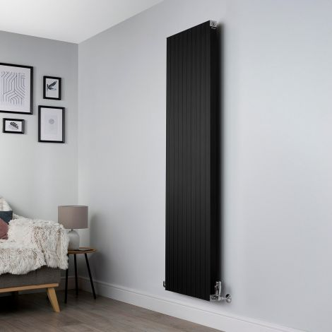 Motif Black Vertical High Output Designer Radiator - 1750mm high x 500mm wide