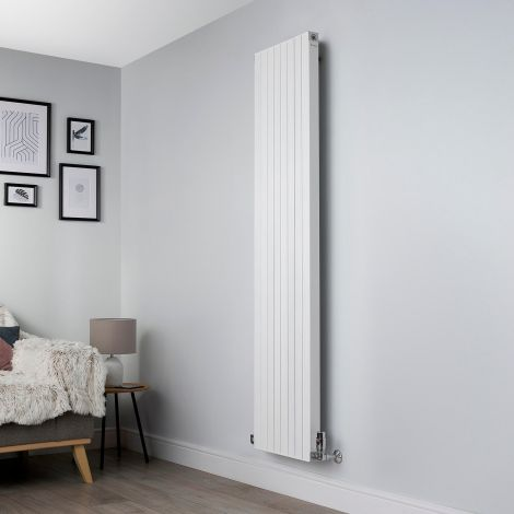 Motif White Vertical Tall Slim Designer Radiator - 1750mm high x 400mm wide